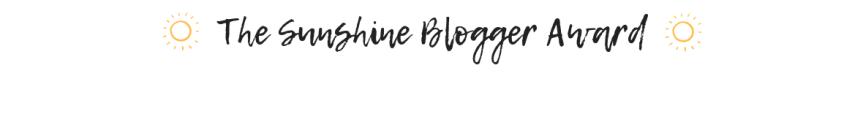 The Sunshine BloggerAward